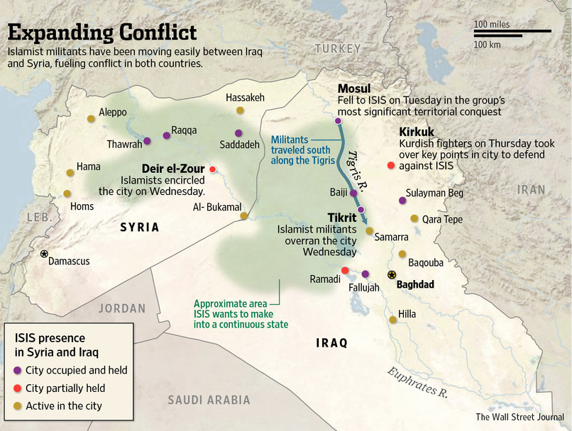 Iraq and Syria map